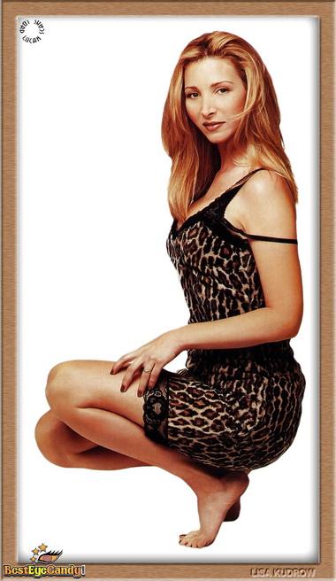 Лиза Кудроу в миниплатье.